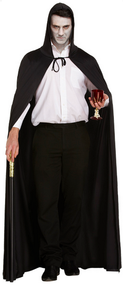 Adult Long Black Halloween Cloak