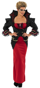 Ladies Vampiress Fancy Dress Costume