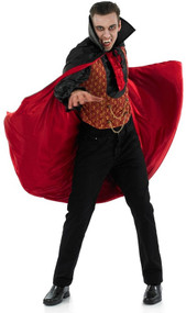 Mens Vampire Count Fancy Dress Costume