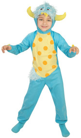 Boys Blue Monster Fancy Dress Costume