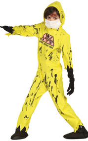 Boys Zombie Nuclear Worker Fancy Dress Costume