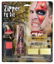 Adult Devil Zipper Halloween Special Effects Make Up Kit