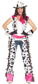 Ladies Rodeo Cowgirl Fancy Dress Costume 2