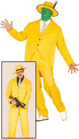 Mens Yellow Suit Fancy Dress Costume