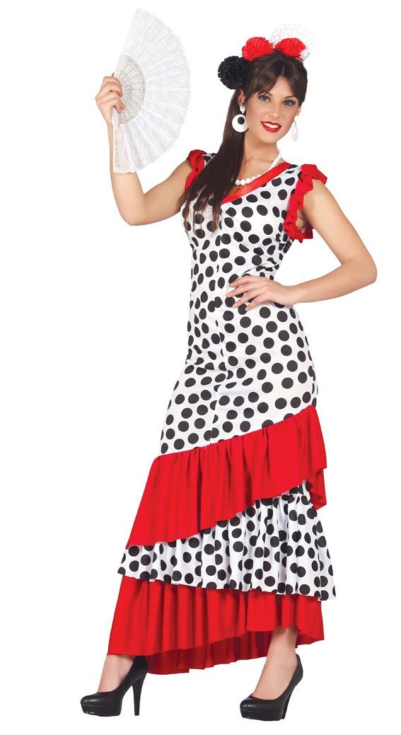 66da5d9ce1066 Ladies Spanish Flamenco Dancer Fancy Dress Costume - Fancy Me Limited
