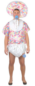 Mens Floral Big Baby Fancy Dress Costume