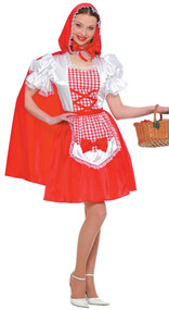 Ladies Little Red Riding Hood Fancy Dress Costume 3