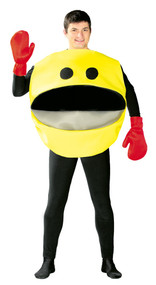 Mens Yellow Computer Fancy Dress Costume
