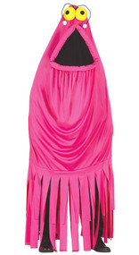 Adult Pink Monster Fancy Dress Costume