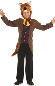 Boys Mister Fox Fancy Dress Costume