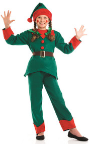 Child's Christmas Elf Fancy Dress Costume