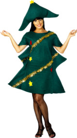 Adult Novelty Christmas Tree Fancy Dress Costume