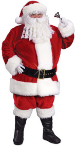 Mens Deluxe Santa Fancy Dress Costume