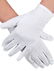 Adult Short White Gloves