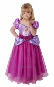 Girls Super Deluxe Rapunzel Fancy Dress Costume