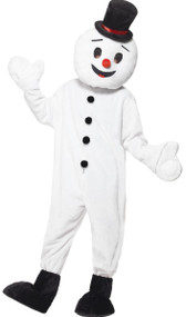 Adult Snowman Mascot Fancy Dress Costume