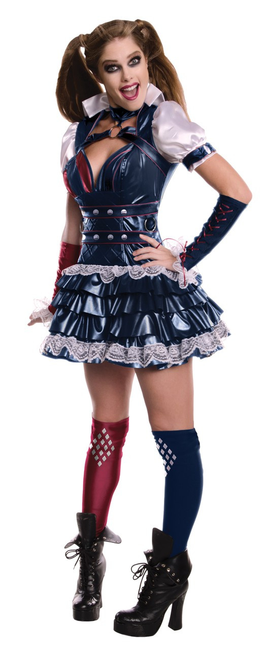 Ladies Sexy Harley Quinn Fancy Dress Costume - Fancy Me Limited a916275c8