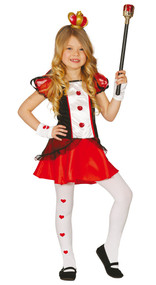 Girls Queen of Hearts Fancy Dress Costume 3