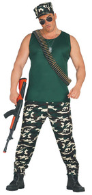 Mens Army Fancy Dress Costume 3