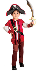 Boys Deluxe Pirate Fancy Dress Costume
