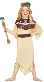 Girls Indian Cherokee Fancy Dress Costume