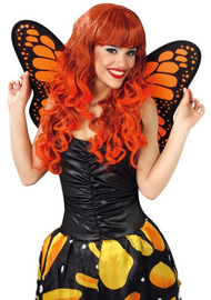 Ladies Orange Butterfly Wings