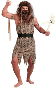 Mens Neanderthal Caveman Fancy Dress Costume