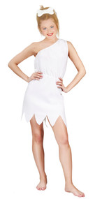 Ladies White Cavegirl Fancy Dress Costume