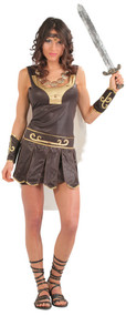Ladies Ancient Greek Warrior Fancy Dress Costume