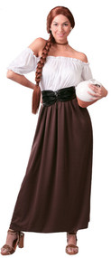 Ladies Medieval Innkeeper Fancy Dress Costume