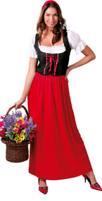 Ladies Medieval Serving Wench Fancy Dress Costume