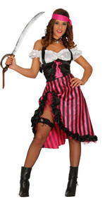 Ladies Burlesque Pirate Fancy Dress Costume
