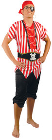 Mens Deckhand Pirate Fancy Dress Costume