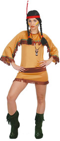 Ladies Cherokee Indian Fancy Dress Costume