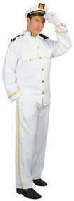 Mens Cruise Ship Captain Fancy Dress Costume