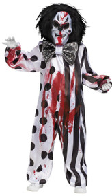 Mens Bleeding Killer Clown Fancy Dress Costume