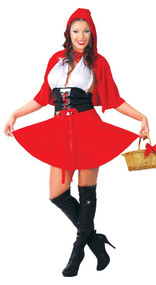 Ladies Sexy Red Riding Hood Fancy Dress Costume