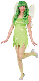 Ladies Green Pixie Fancy Dress Costume