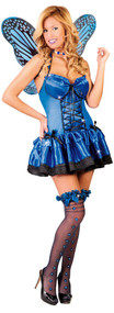 Ladies Blue Butterfly Fancy Dress Costume