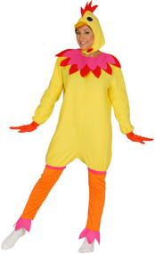 Ladies Yellow Chicken Fancy Dress Costume