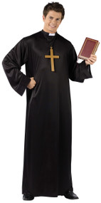 Mens Priest Fancy Dress Costume