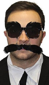 Mens Grouche Glasses and Moustache