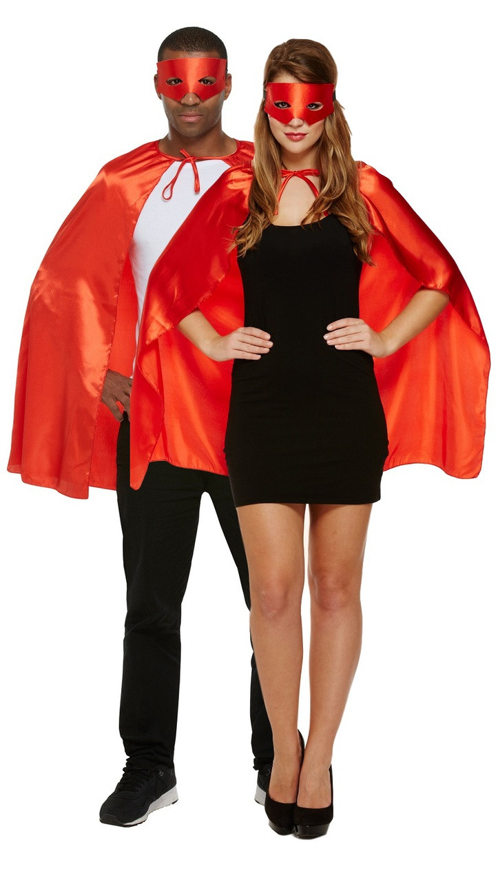 bc0f7ae08 Adult Red Superhero Fancy Dress Costume. Previous. Image 1