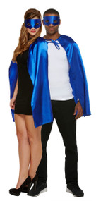Adult Blue Superhero Fancy Dress Costume