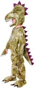 Boys Green Dinosaur Fancy Dress Costume 1