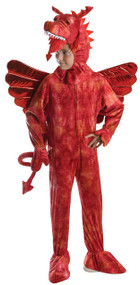 Child's Red Dragon Fancy Dress Costume