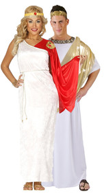 Couples Roman Toga Fancy Dress Costumes 2
