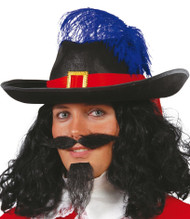 Mens Musketeer Feather Fancy Dress Hat