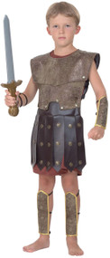 Boys Roman Gladiator Warrior Fancy Dress Costume