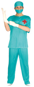 Mens Scrub Doctor Fancy Dress Costume